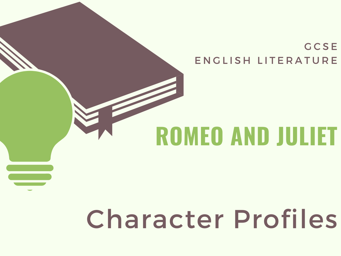 Romeo and Juliet Character Profiles