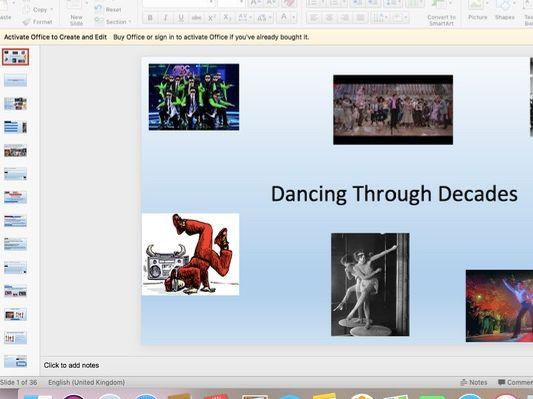 Dancing through the decades KS3 Dance SOW