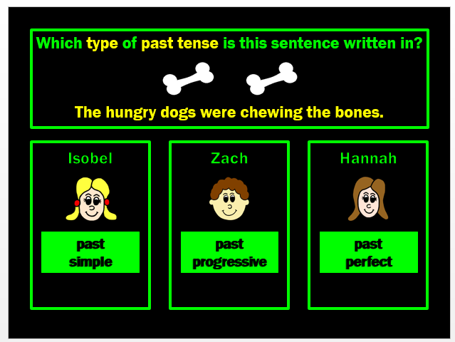 Past Tense PPT Powerpoint Game by Grammatickx