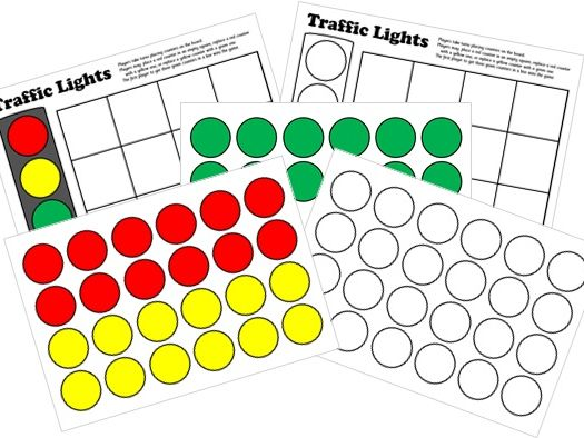 Traffic Lights Board Game - Printable & Interactive ActivInspire Versions