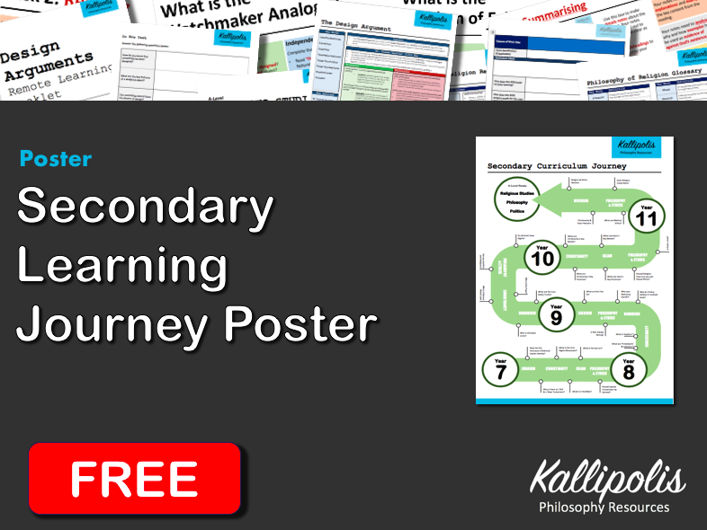 FREE Secondary (KS3 & KS4) Religious Studies Learning Journey Poster