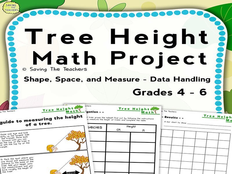 Tree Height Measurement Outdoor Math Activity