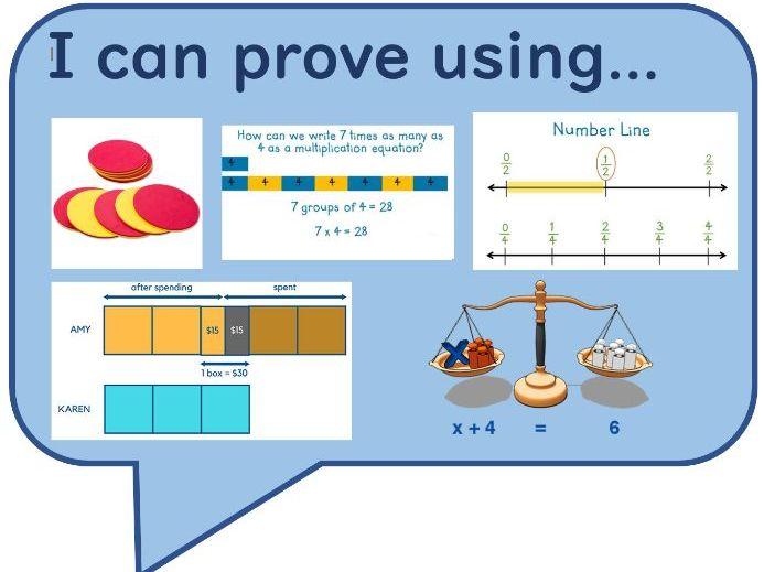 Maths Reasoning Sentences Speech Bubbles