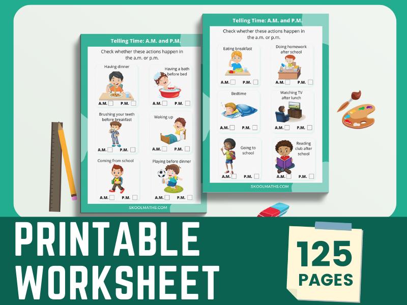 Printable Worksheet Bundle Year 1