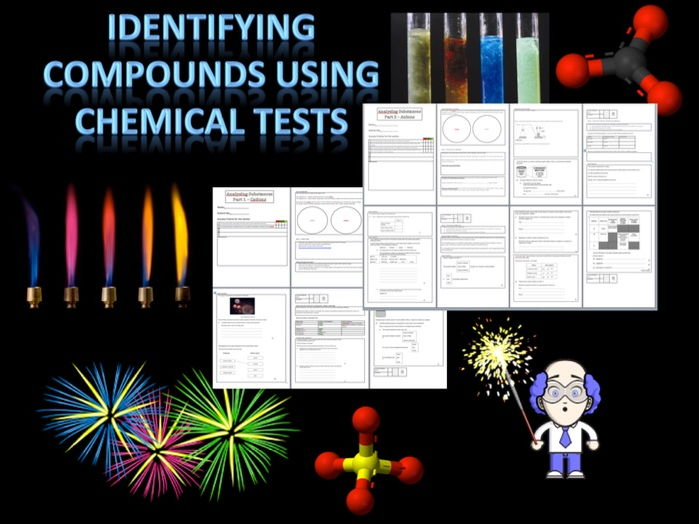 AQA GCSE Lesson sequence on identifying cations and anions including workbooks and exam Qs