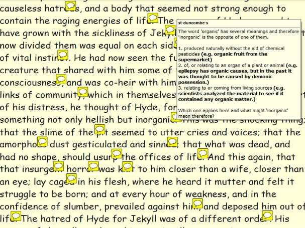 Annotated Jekyll and Hyde: Chapter Seven