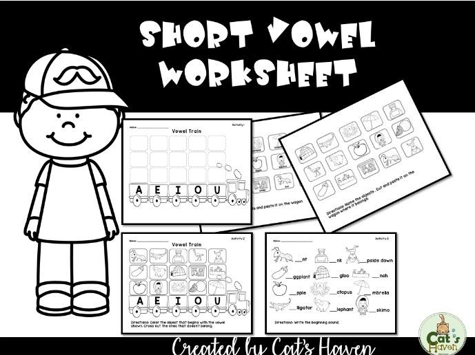 Short Vowel Train Worksheet