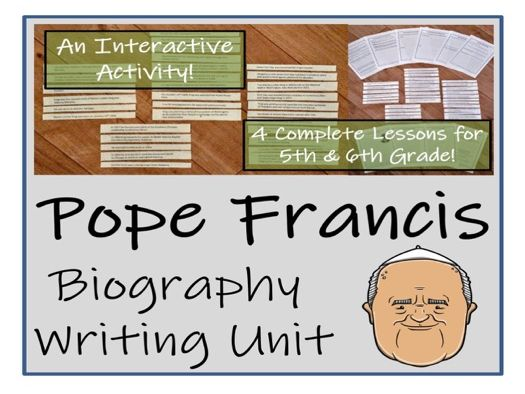 UKS2 Literacy - Pope Francis Biography Writing Unit