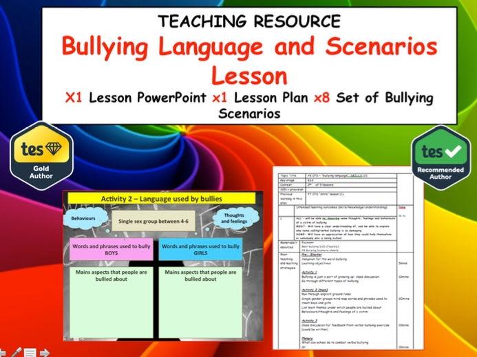 Bullying Language and looking at different scenarios PSHE anti Bullying Week