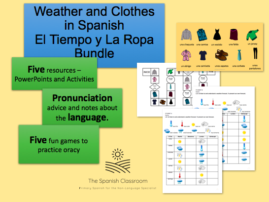 Weather and Clothes in Spanish – El Tiempo y La Ropa Bundle