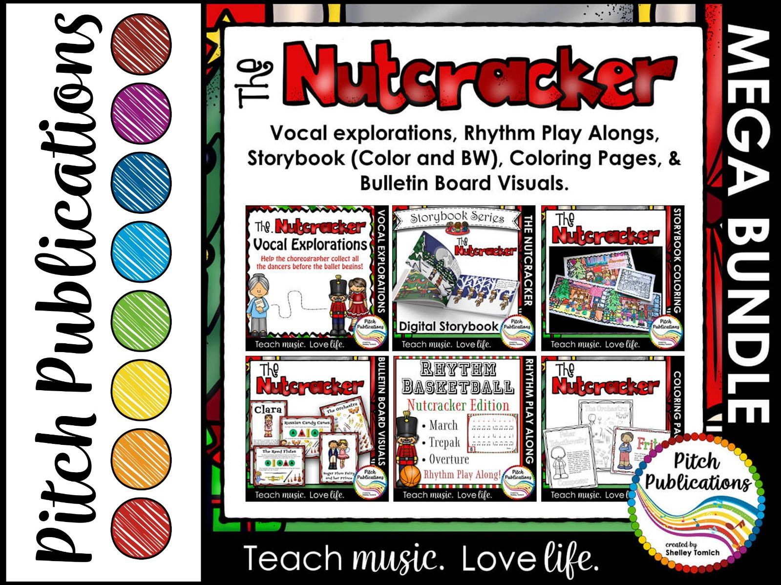 Nutcracker Music Activities - MEGA BUNDLE - Storybook, Bulletin Boards, & More!