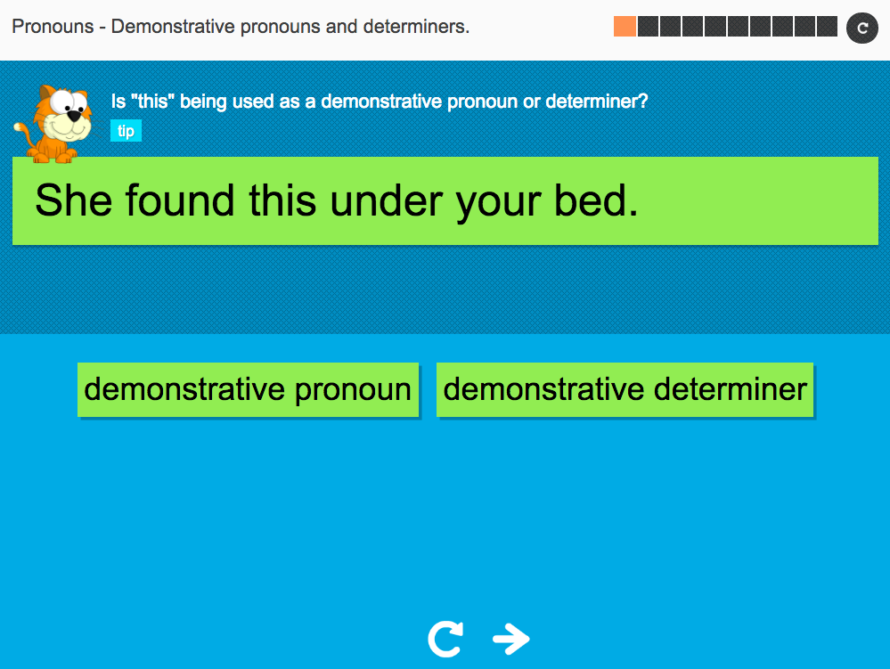 Demonstrative pronouns and determiners - Interactive Activity - KS3 Spag