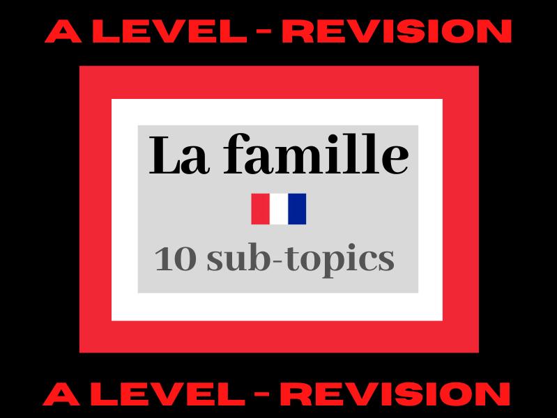 French A level - les changements dans les structures familiales