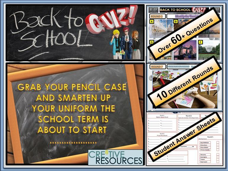 Back to School: Back to School Quiz (UK Version)