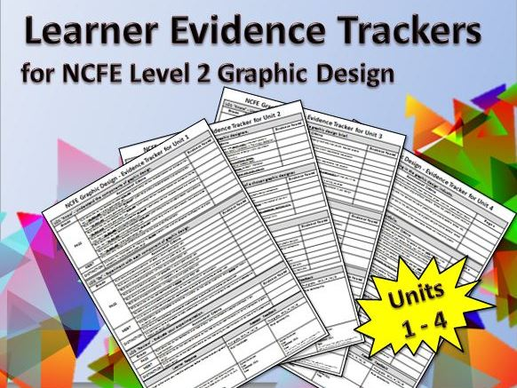 Learner Evidence Tracker for NCFE Level 2 Graphic Design