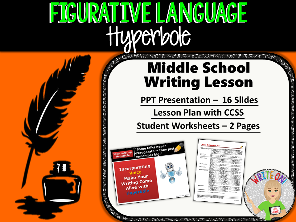 HYPERBOLES - Figurative Language Lesson - Middle School