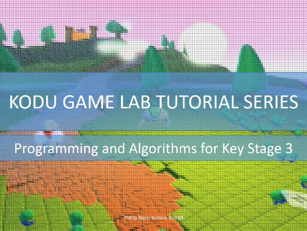 Kodu Game Lab Tutorial Series