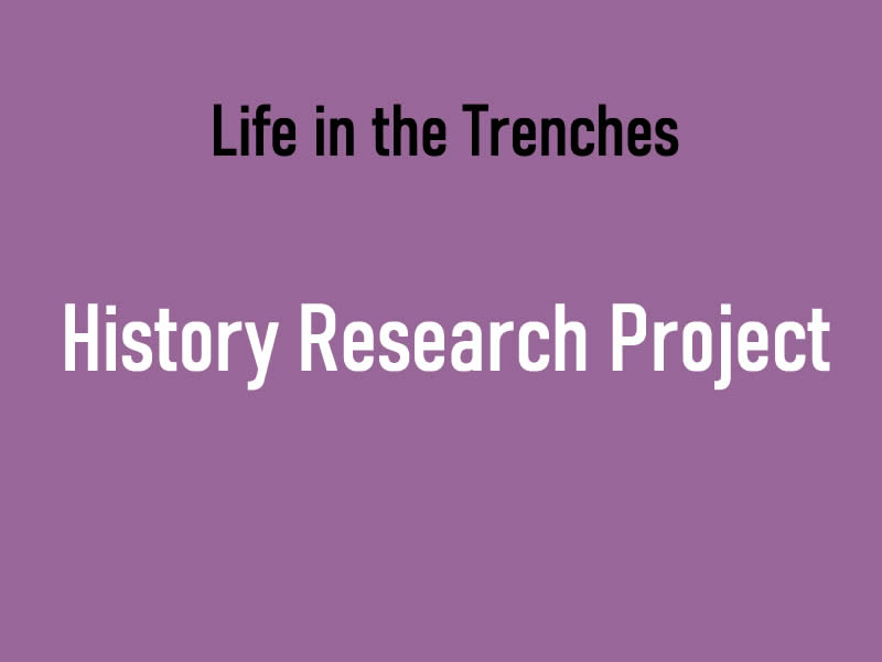 Life in the Trenches Research Project