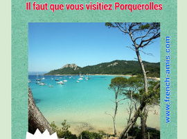 French Subjonctif present and past - TPR french story -  Porquerolles