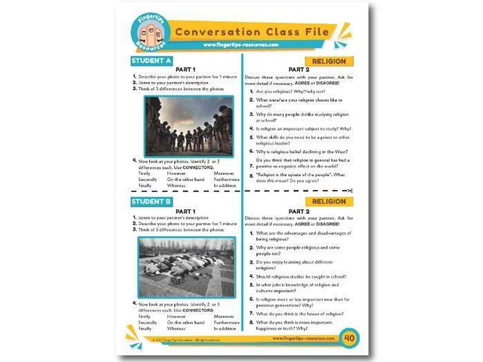 Religion & Faith - ESL Conversation Activity