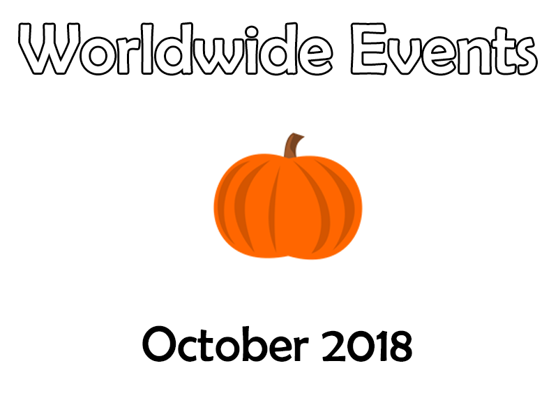Tutor Time – Worldwide Events - October 2018