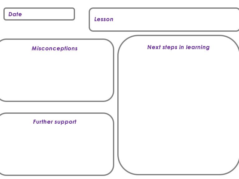 Lesson evaluation sheet