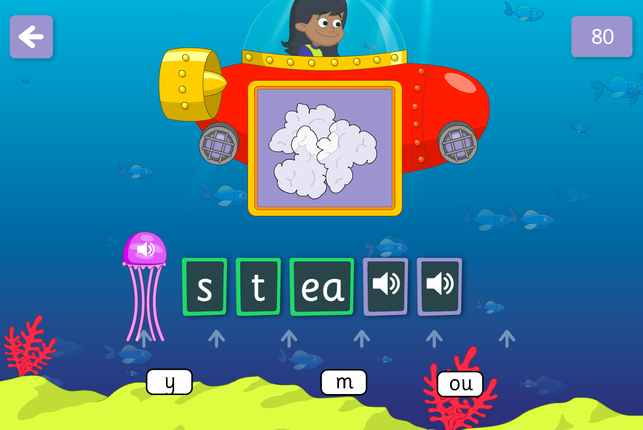 Underwater Words Game - New Graphemes - Phase 5