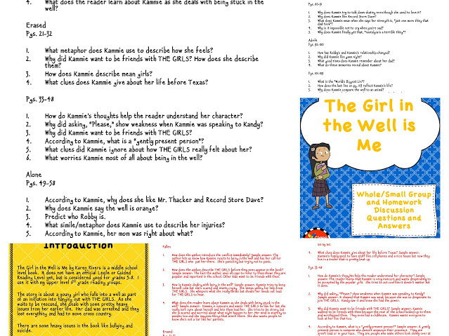 The Girl in the Well is Me Discussion Questions and Answers