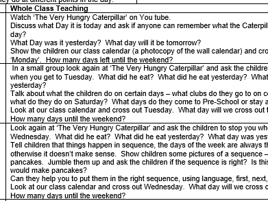 Maths Mastery number 5 planning EYFS