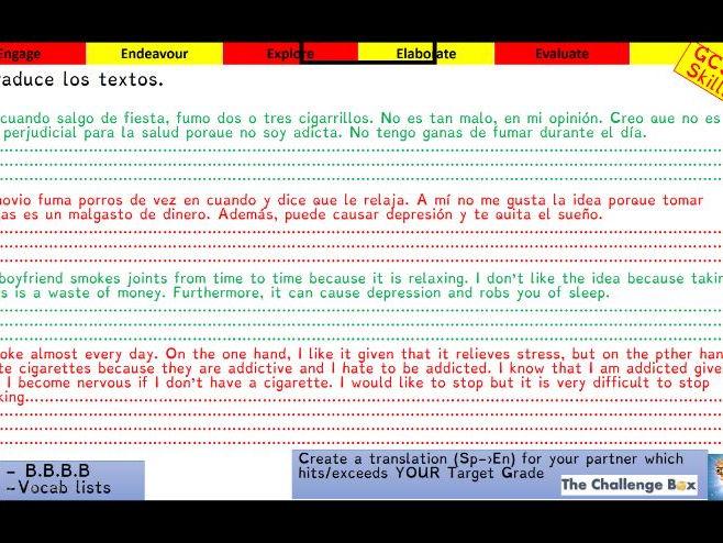 Viva GCSE - Module 8 - Vivir a tope - Lesson 3