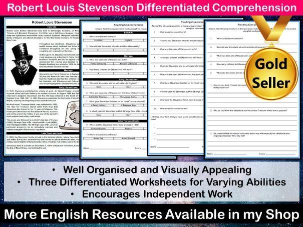 Robert Louis Stevenson Differentiated Comprehension