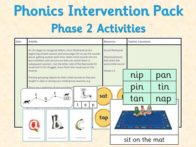 Phonics Intervention Pack - Phase 2 Planning and Resources (EYFS)