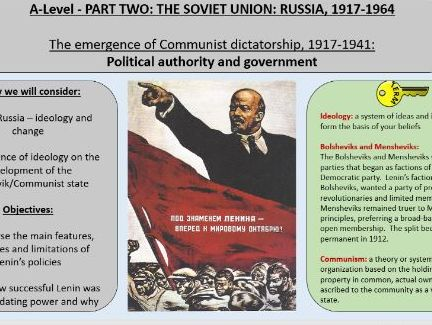1. AQA Tsarist and Communist Russia - New Leaders and Ideologies