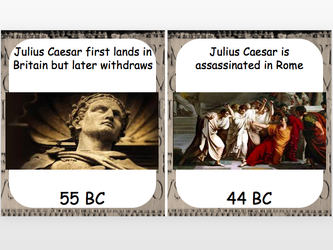 Roman Invasion Timeline Cards