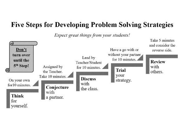 Five Step Problem Solving: Around and around