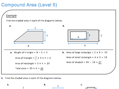 Compound Area (Level 5) by JDStrauss | Teaching Resources
