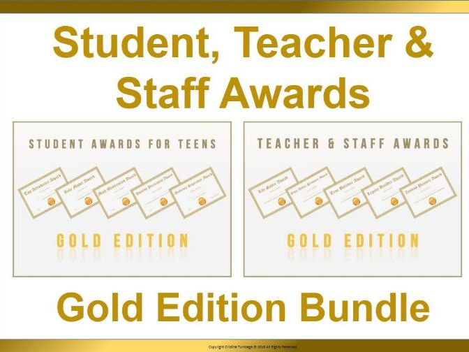 Student, Teacher, and Staff Awards Gold Edition