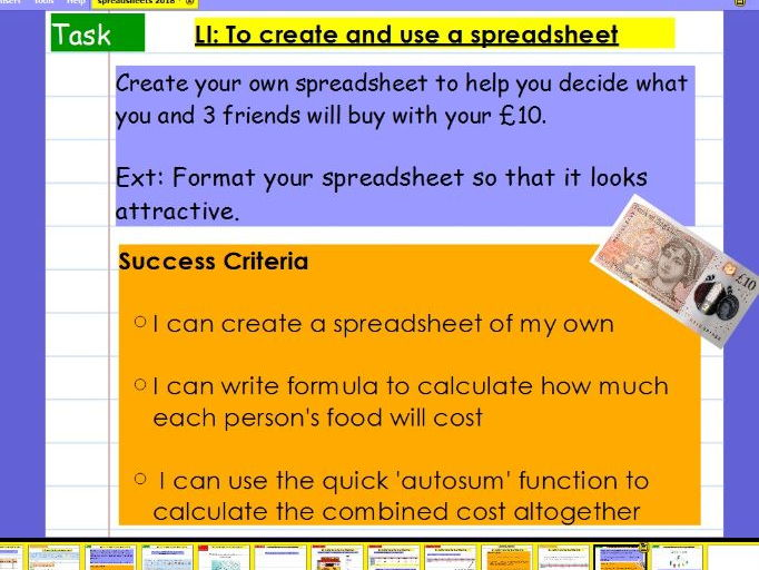 KS2 Computing Planning: Spreadsheets Excel complete unit with all resources