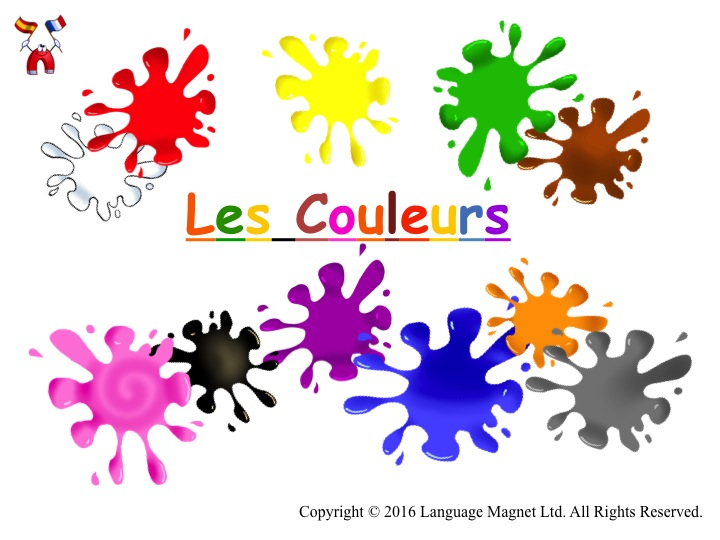 French Colours Pronunciation with Audio File and Activity Sheet