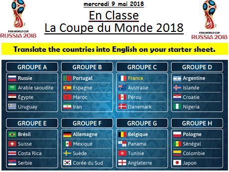 World Cup 2018 scheme of work booklet