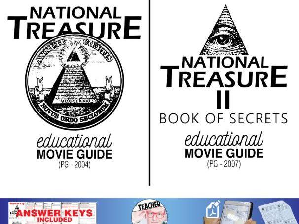 National Treasure I & II Movie Guide Bundle | Questions | Worksheet