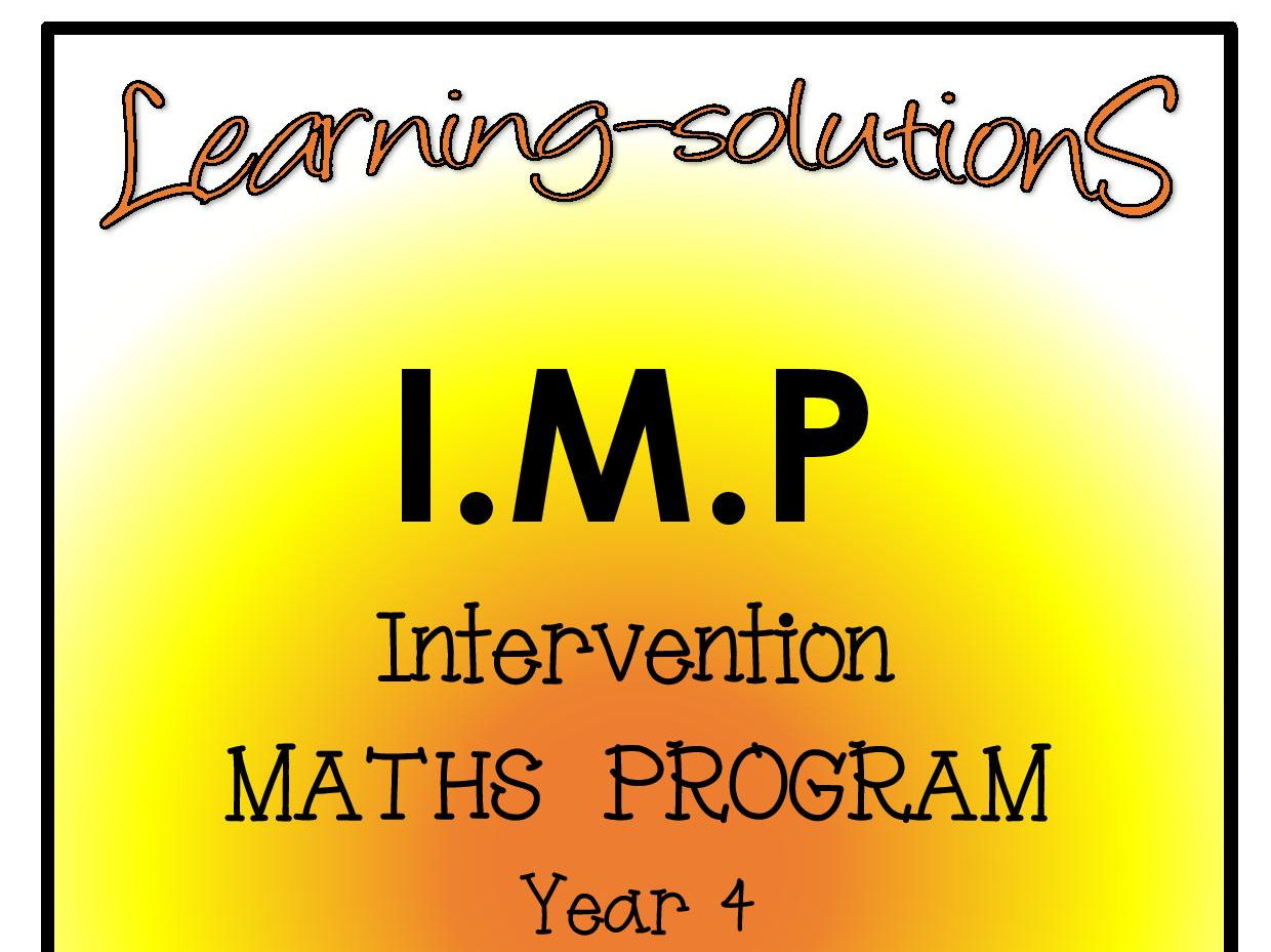 INTERVENTION MATHS PROGRAM BUNDLE - IMP Year 4 - Includes SCREENERS, ACTIVITIES, ANSWER BOOK and GAMES