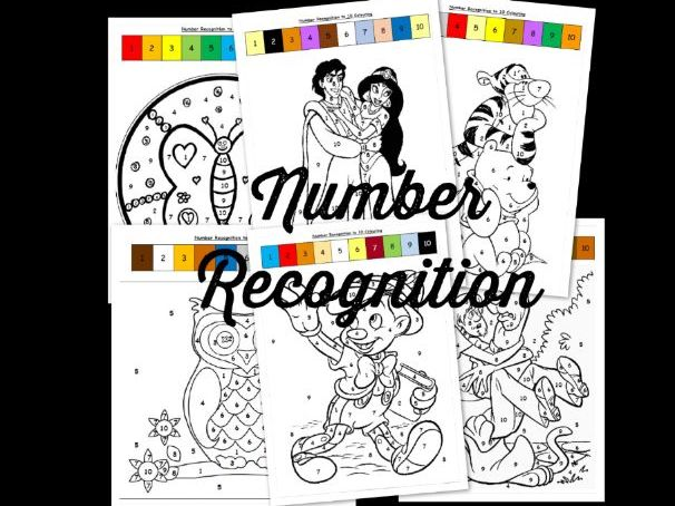 Number recognition to 10 EYFS/SEN (6 sheets)