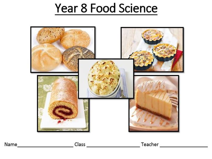 Food science scheme of work and resources.