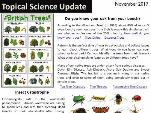 Topical Science Update  - November 2017