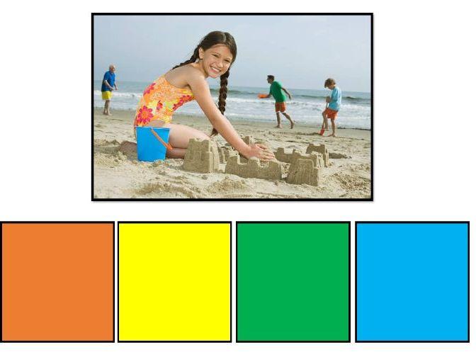 Colourful (Colorful) Semantics Level 4 (Sub-Ver-Obj-Where) Basic Set (20 photos)