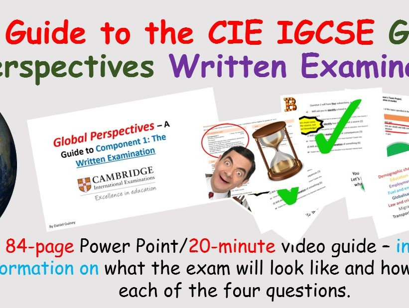Global Perspectives Written Examination (Component 1) – IGCSE Guide