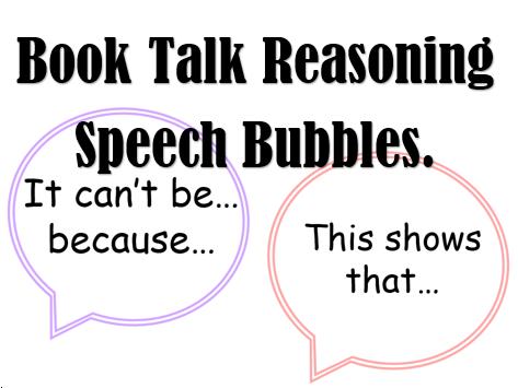 Book Talk Reasoning Speech Bubbles