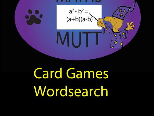 Pooch Puzzles: Card Games Word Search