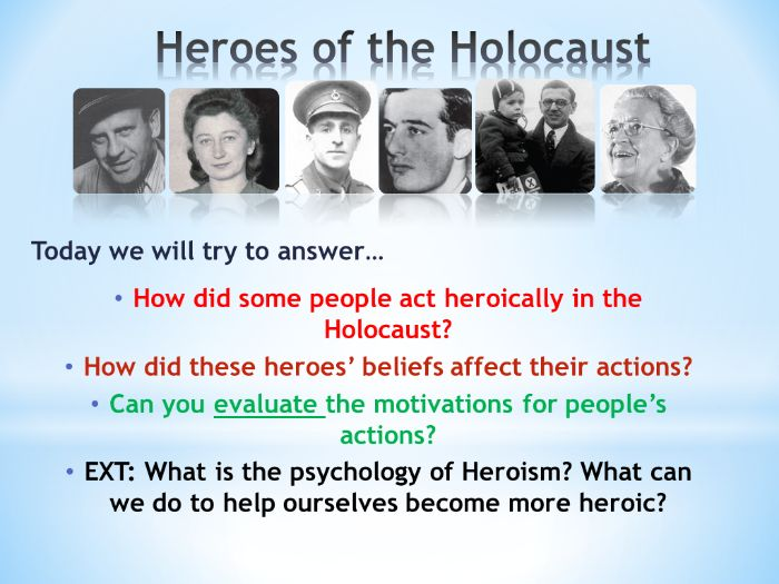 Heroes of the Holocaust: Rescuers and Rebels